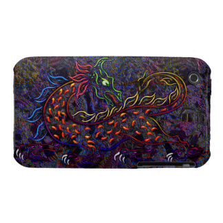 Fancy Neon Medieval Lion & Women's Fashion Collage iPhone 3 Case-Mate Cases