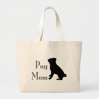 Fancy Pug Mom Jumbo Tote Bag