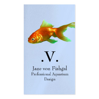 Fancy tail oranda goldfish pack of standard business cards