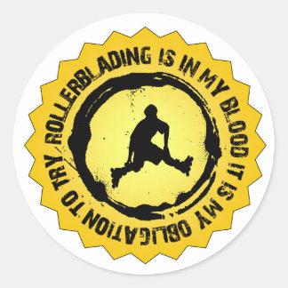 Fantastic Rollerblading Seal Round Sticker
