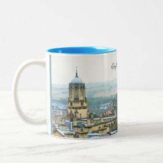 Fantastic View, Oxford, England, Roof Top #1 Two-Tone Mug