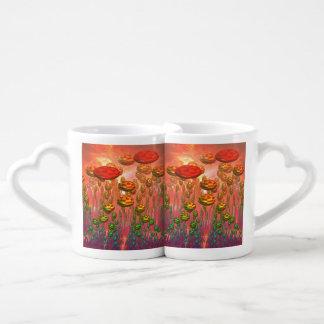 Fantasy alien garden lovers mug