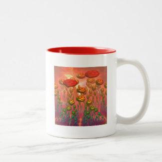 Fantasy alien garden Two-Tone mug