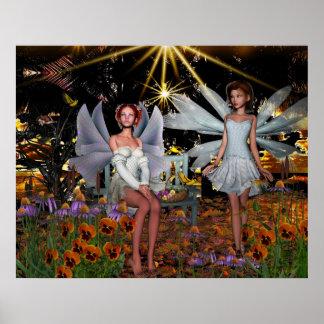 Fantasy Art Poster A Fairies Quiet Place