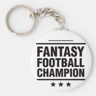 Fantasy Football Champion! Basic Round Button Key Ring