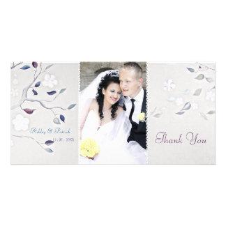 Fantasy Tree Wedding Thank You Photo Greeting Card