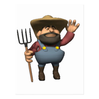 farmer is here postcard