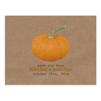 Farmers Market Inspired Save The Date | Pumpkin Postcard