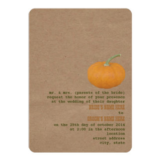 Farmer's Market Theme Wedding Invite | Pumpkin