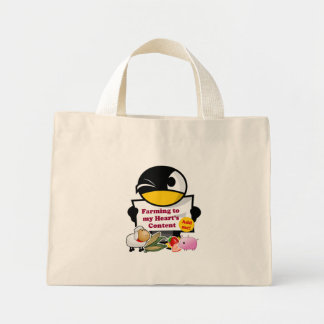 """Farming to My Heart's Content"" Game Tote Bag"