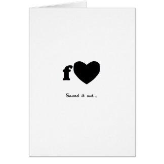 Fart Valentine Greeting Card
