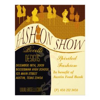 Fashion Designer  Fashion Show  Invitation 21.5 Cm X 28 Cm Flyer