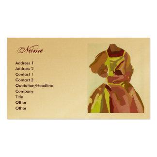 """""""Fashion Designer"""" Golden Brown Dress Pack Of Standard Business Cards"""