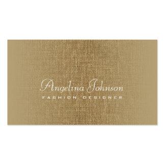 Fashion Designer Simple Bronze Linen Card Pack Of Standard Business Cards