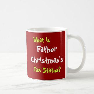 Father Christmas Funny Tax Accountant Joke Basic White Mug