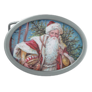 Father Christmas On His Way Belt Buckle