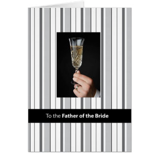 Father of Bride Champagne Toast, Thank You, Black Greeting Card