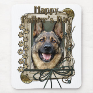 Fathers Day - Stone Paws - German Shepherd Mouse Pad