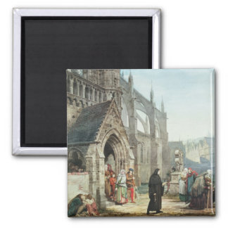 Faust and Marguerite, 1857 (w/c on paper) Square Magnet