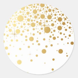 Faux Gold Foil Confetti Dots Sticker I