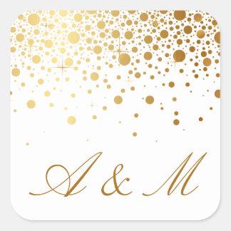 Faux Gold Foil Confetti Dots Sticker III