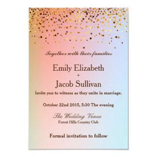 Faux Gold Foil Confetti Elegant Wedding 9 Cm X 13 Cm Invitation Card