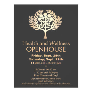 Faux Gold Prosperity Tree Health and Wellness 21.5 Cm X 28 Cm Flyer
