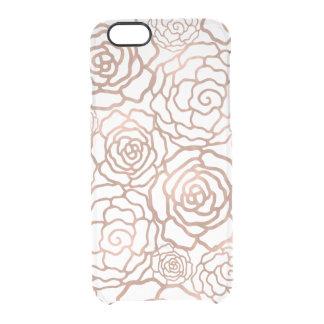 Faux Rose Gold Foil Floral Lattice Clear Clear iPhone 6/6S Case