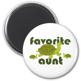 Favorite Aunt 6 Cm Round Magnet
