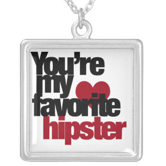 Favorite Hipster Square Pendant Necklace