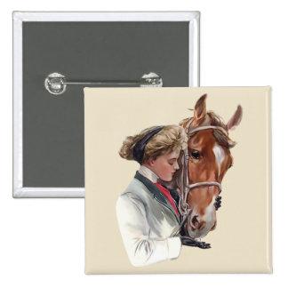 Favorite Horse 15 Cm Square Badge