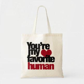 Favorite Human Love Budget Tote Bag