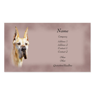 Fawn Great Dane Cropped Business Cards