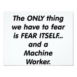 fear machine worker 11 cm x 14 cm invitation card