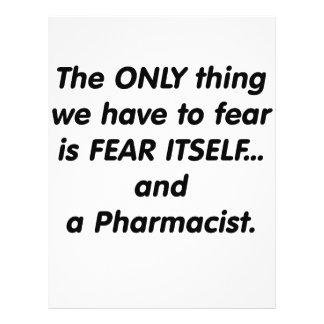 Fear Pharmacist 21.5 Cm X 28 Cm Flyer