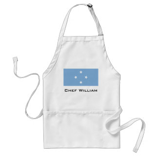 Federated StATES of Micronesia Flag Standard Apron