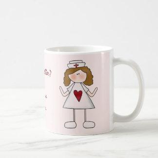 Feeling Better  Thank a Nurse Basic White Mug