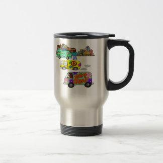 Feeling Groovy Baby Boomer Stainless Steel Travel Mug