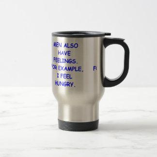 feelings stainless steel travel mug