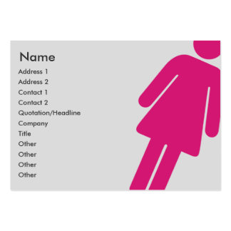 Female Sign - Chubby Pack Of Chubby Business Cards