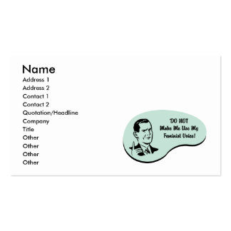 Feminist Voice Pack Of Standard Business Cards