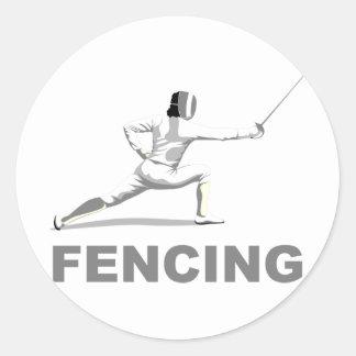Fencing Round Sticker