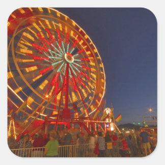 Ferris wheel at dusk at the Northwest Montana Square Sticker