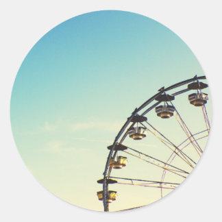 Ferris Wheel Round Sticker
