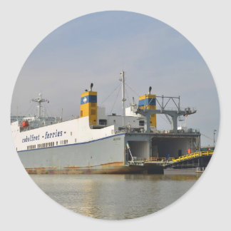 Ferry Melusine Round Sticker