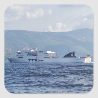Ferry Partenope Square Sticker