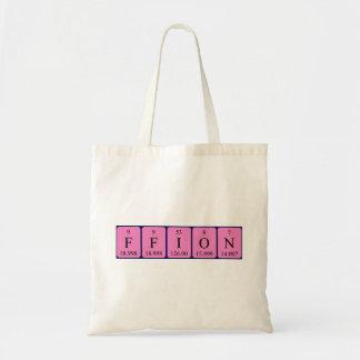 Ffion periodic table name tote bag