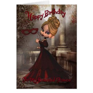 Fiance Birthday Card with Moonies Cutie Pie Masque
