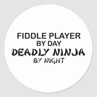 Fiddle Deadly Ninja by Night Round Sticker