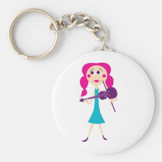 fiddlegal basic round button key ring